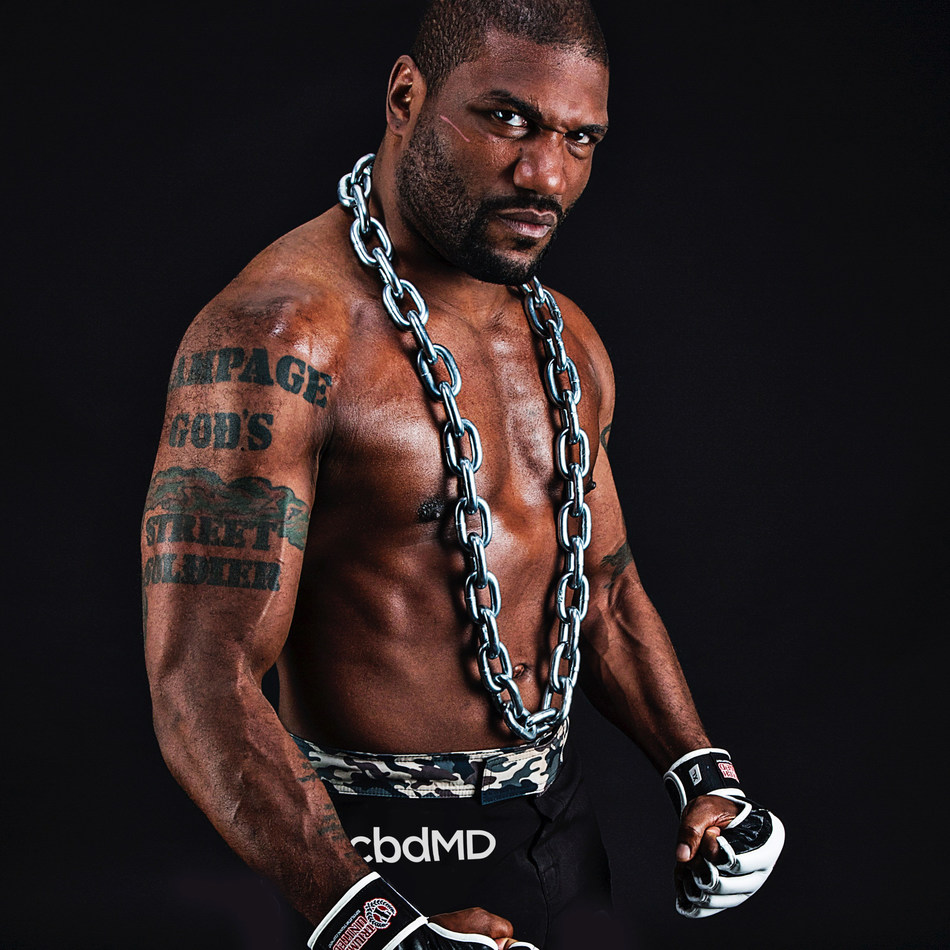 "Team cbdMD athlete and former UFC Champion Quinton ""Rampage"" Jackson"