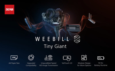 WEEBILL S Gimbal supports  DSLR and Mirrorless cameras a full-range POV mode, Vortex mode (for 360-degree barrel rolls)