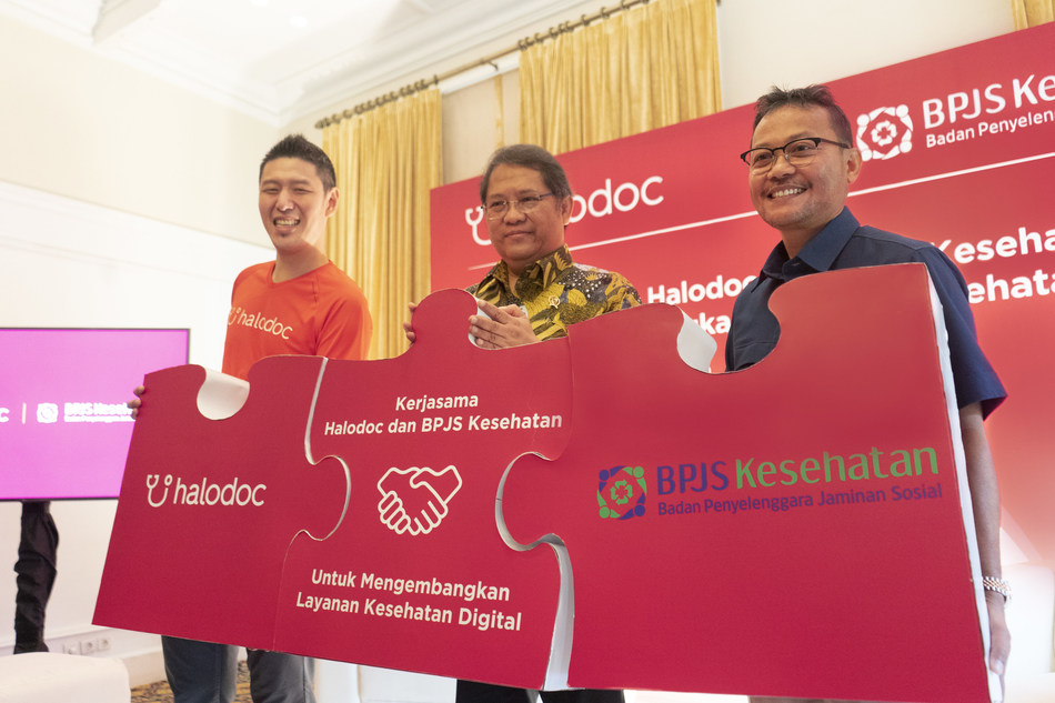 Collaboration between Halodoc and BPJS (Indonesian National Health Insurance system).