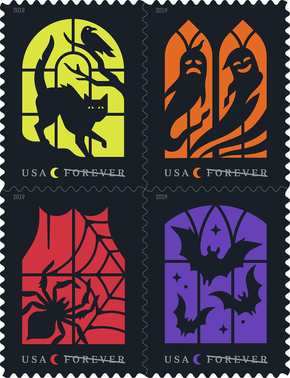 As autumn approaches, the Spooky Silhouettes Forever stamp offers fun, frightful scenes that symbolize this annual celebration.