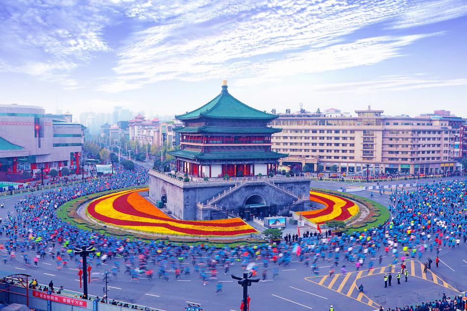 En sus marcas: La Maratón Internacional Yango de Xi'an comienza el 20 de octubre. (PRNewsfoto/Xi'an Municipal Government)