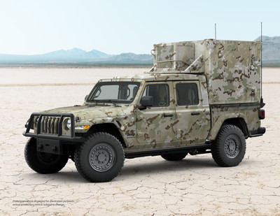 Jeep Gladiator XMT by AM General as a military communications truck is one of many variants that AM General can develop to meet specific customer requirements.