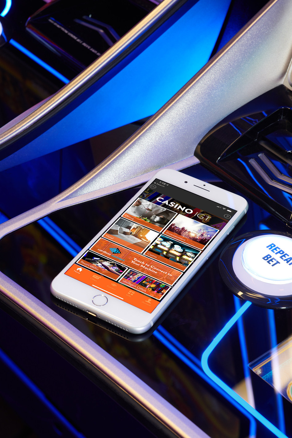 Part of IGT's award-winning ADVANTAGE® Systems Player Experience Product Suite, the Cardless Connect solution enables casino patrons to card in and out of a gaming session with a simple tap of their smartphone.