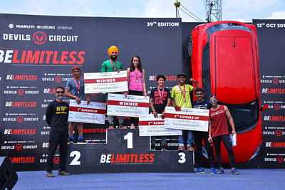 Legends Cup winners of Maruti Suzuki Arena Devils Circuit- Hyderabad Edition after a tough run on the circuit.