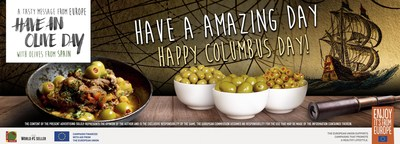Discover a new culinary world with Olives from Spain to celebrate Columbus Day