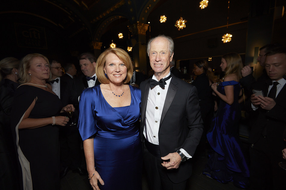 Madeline Bell, President & CEO of Children's Hospital of Philadelphia with Richard D. Wood, Jr., Chairman of Wawa and Distinguished Event Honoree at the 2019 Carousel Ball.
