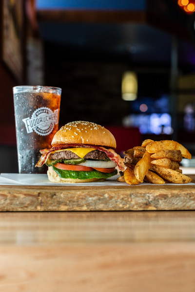 Customers can now get their favorite Fuddruckers dishes delivered to their door in under an hour from 16 Fuddruckers restaurants in the Houston metro area, Beaumont and College Station.