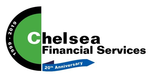 Chelsea Financial Services 20 Year Anniversary Logo