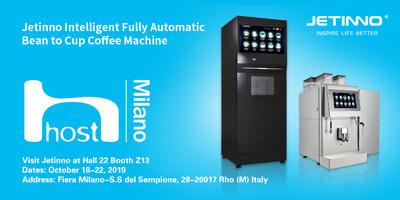 Jetinno lanza su nueva máquina de café con leche fresca en la feria Host Milano 2019