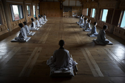 Meditation with a monk