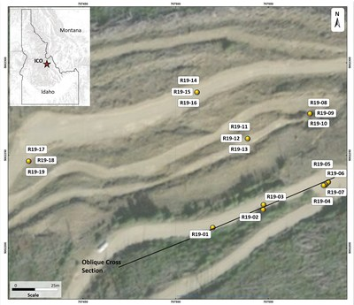 Figure 1: Plan of ICO 2019 Drilling (CNW Group/Jervois Mining Limited)