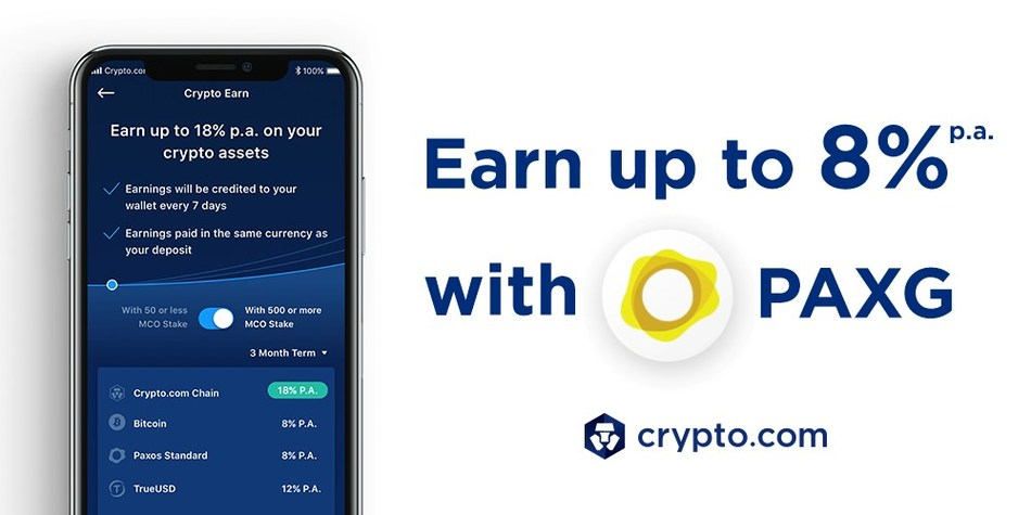 Crypto Com Earn Up To 8 P A On Pax Gold Paxg Deposits
