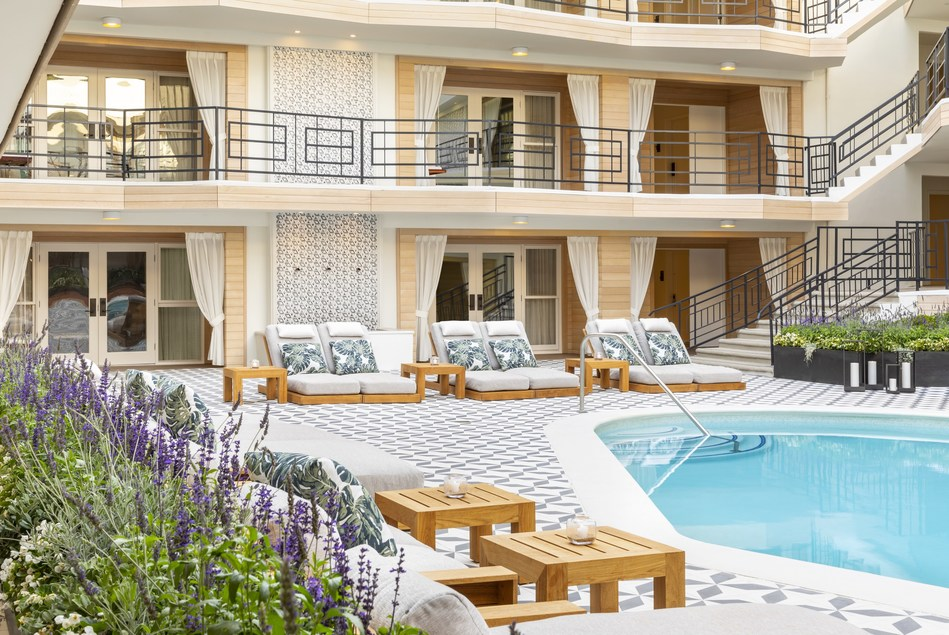 Oceana's Pool and Courtyard