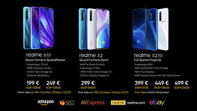 realme officially disembarks in Europe with its new All in Quad products: realme 5 Pro, realme X2 and realme X2 Pro
