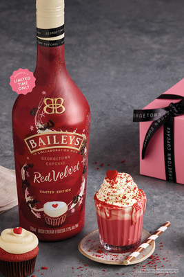 HAVE YOUR CUPCAKE AND DRINK IT TOO! BAILEYS IRISH CREAM LIQUEUR AND GEORGETOWN CUPCAKE PARTNER TO INTRODUCE BAILEYS RED VELVET