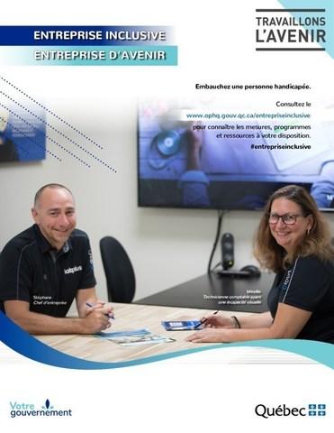Une des affiches lancées dans le cadre de la campagne de sensibilisation et d'information. - Entreprise : LOGIQ Innovations (Groupe CNW/Office des personnes handicapées du Québec)