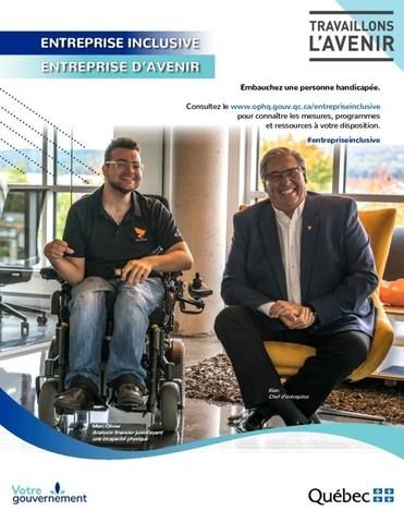 Une des affiches lancées dans le cadre de la campagne de sensibilisation et d'information. - Entreprise : Kezber (Groupe CNW/Office des personnes handicapées du Québec)