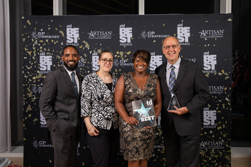 L-R: Mitchell Irving, Christine Bains, Catherine Jefferson and Richard Fletcher, all part of Krystal's People Experience Team who were recognized at the 2019 Association for Talent Development (ATD) BEST Awards.