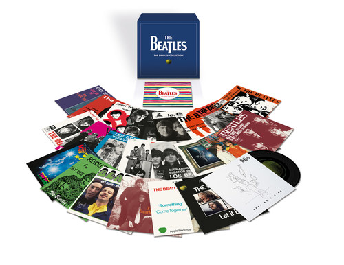 The Beatles: 'The Singles Collection' presents 46 tracks on 23 180-gram seven-inch vinyl singles in faithfully reproduced international picture sleeves, accompanied by a 40-page booklet with photos, ephemera, and detailed essays by Beatles historian Kevin Howlett. The collectible set will be released worldwide on November 22 by Apple Corps Ltd./Capitol/UMe. 'The Singles Collection' follows the September 27 release of The Beatles' 'Abbey Road' album in a suite of Anniversary Edition packages.