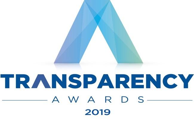 U.S. Transparency Awards 2019 logo.