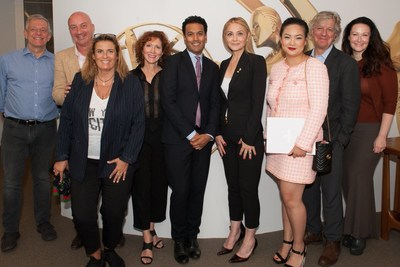 Michal Grayevsky with fellow jurors Alvaro Pereira, Oliver Mahrdt, Lisa Azuelos, Anne Bahr Thompson, Devin Woods, Amanda Nguyen, Fred Graver and Camille Bidermann