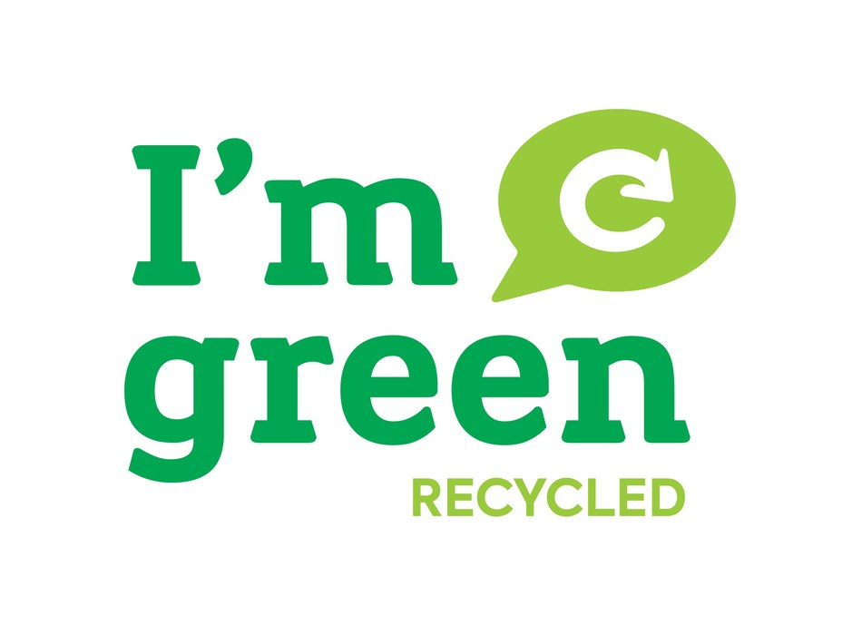 I'm green Recycled logo