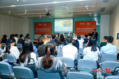 Lin Feng (Director, Medical Device Registry at Shanghai Food & Drug Administration) is lecturing