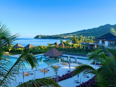 View over the Cabrits Resort & Spa Kempinski, Dominica