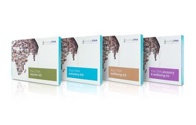 All four of Living DNA's new Genealogy and Wellbeing kits