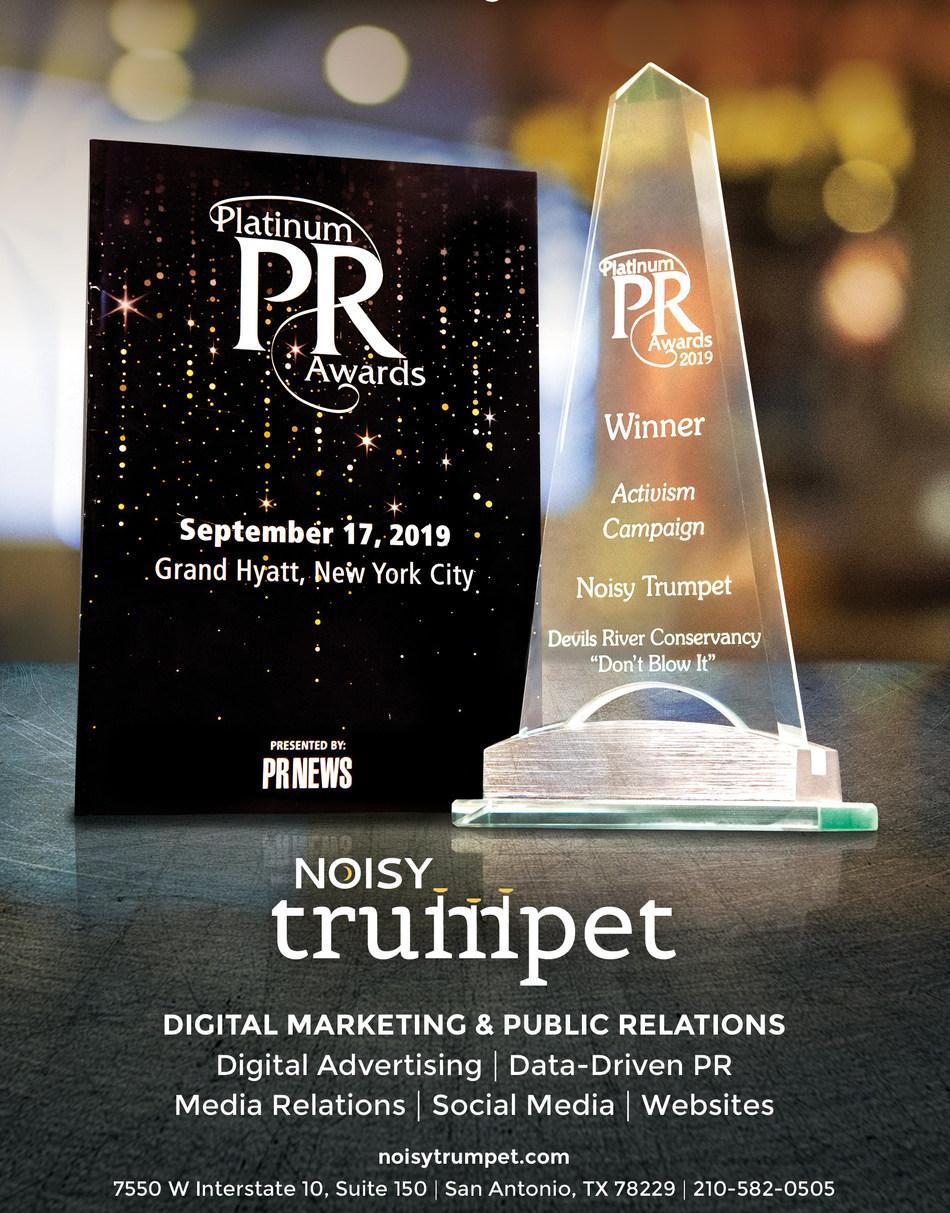 Noisy Trumpet Digital & Public Relations is a 2019 PRNEWS' Platinum PR Award Winner