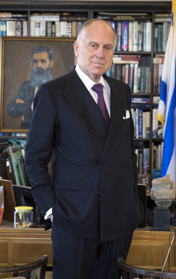 Ronald S. Lauder, presidente da WJC.; crédito da foto: Noa Grayevsky (PRNewsfoto/JCS International)