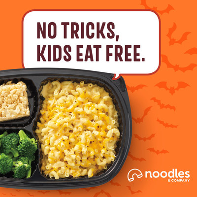 Celebrate Halloween with a free kids meal at Noodles & Company.