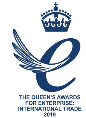 Queens Award for International Trade 2019 logo (PRNewsfoto/2M Holdings Group of Companies)