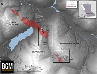 Deposit Zones (CNW Group/Barkerville Gold Mines Ltd.)