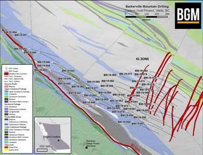 KL Zone (CNW Group/Barkerville Gold Mines Ltd.)