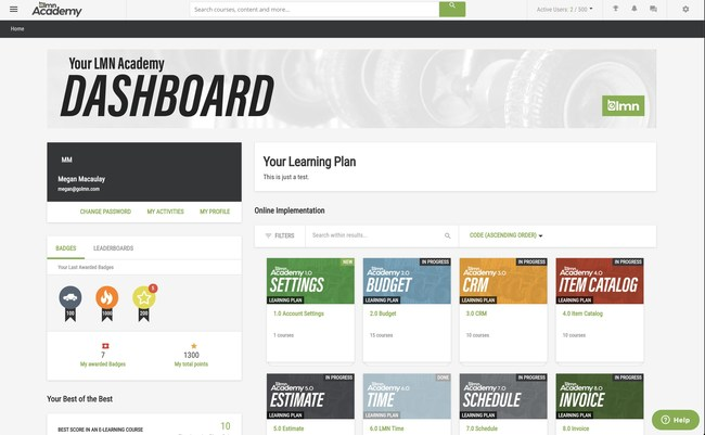 """Starting in November, the LMN Academy Online is offering web-based LMN implementation courses in addition to its popular classroom-based implementation training, business-building workshops, certifications and more. *Landscapers Get Dynamic e-Learning 'On the Go'* """"We know 99 percent of the businesses who invest in training succeed in implementing LMN's software and start seeing bottom-line results almost immediately,"""" said LMN CEO Mark Bradley."""
