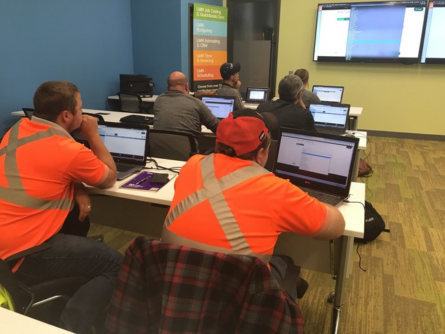 *In-person Education for Everyone* For those who prefer classroom learning, LMN continues to offer implementation training at its Toronto headquarters as well as its training facilities in Orlando and Dallas at $396 per student for the week. Training is hands-on, meaning students will be working directly in their accounts and will also have the opportunity to network with fellow landscapers from across North America.