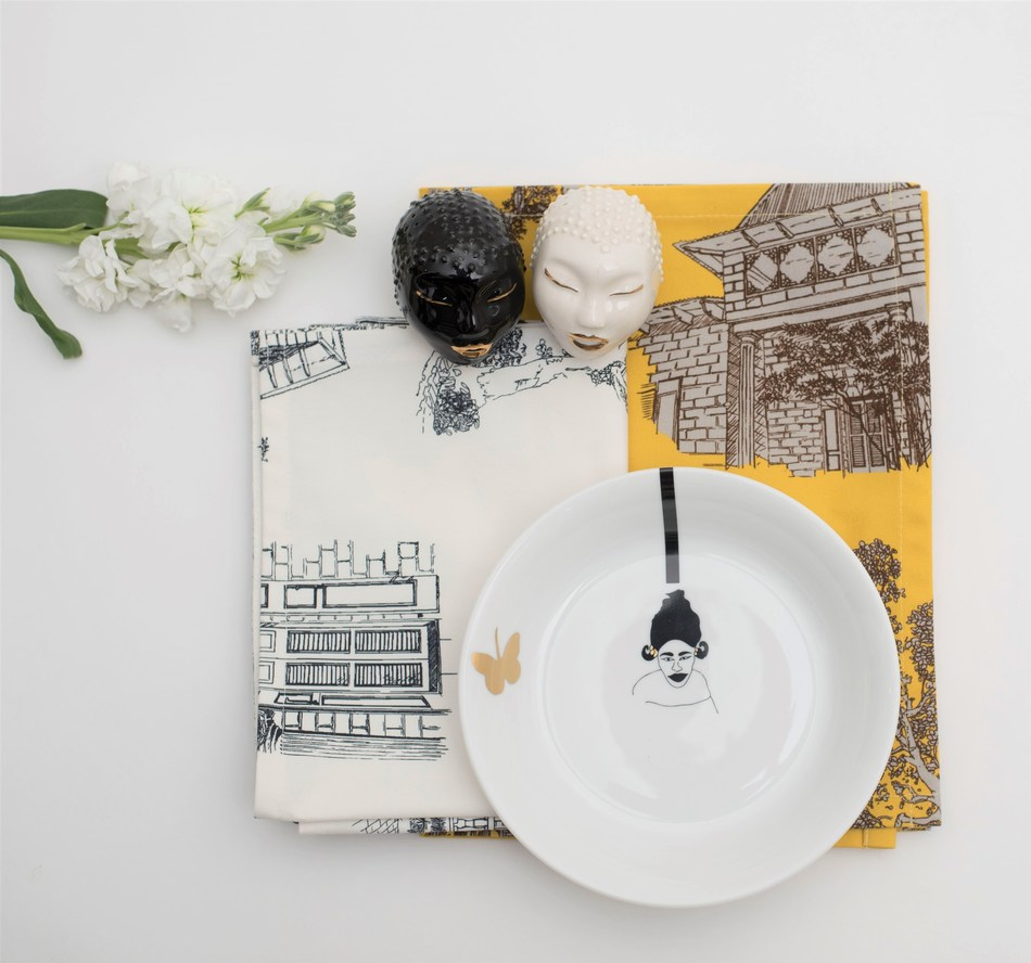 Exclusive launches from Jamaica's BAUGHaus Design Studi​o ceramics, pillows and textiles from Haiti's Yael et Valerie and tableware from Fatyly ceramics -- designed in Dakar, Senegal and made in Limoges, France -- débuts fall 2019 on 54kibo.com