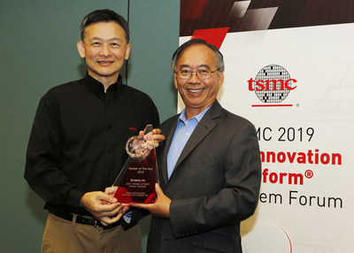 Chi-Foon Chan, Co-CEO of Synopsys, Accepts a Partner of the Year Award from Dr. Cliff Hou, Vice President of Technology Development for TSMC