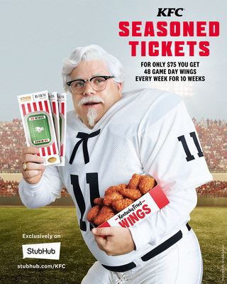 KFC introduces Seasoned Tickets – the $75 fried chicken scented package that gets fans 48 made-to-order Kentucky Fried Wings delivered hot and fresh to their door every week for 10 weeks.