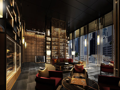 Artist's Impression of the The Clan Hotel Singapore Lounge