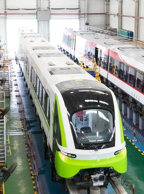China's first self-developed magnetic levitation train for commercial use.