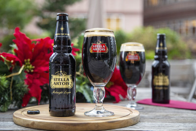 Stella Artois announces its first-ever limited-edition holiday beer: Midnight Lager. Available nationwide on November 4th, it's dark, delicious, and perfect for festive season. (PRNewsfoto/Stella Artois)
