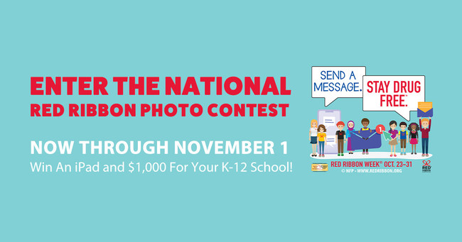 The 9th Annual National Red Ribbon Photo Contest is currently underway. Sponsored by the National Family Partnership and co-sponsored by the DEA, the contest is aimed at calling attention to the benefits of staying drug free through the use of photography.