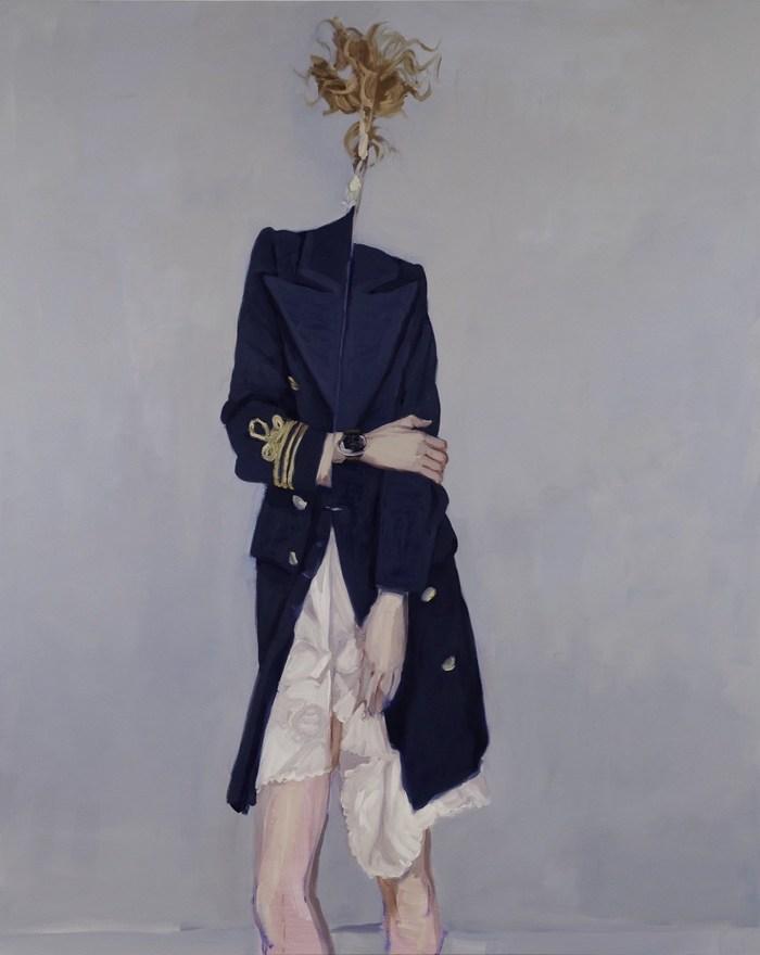 Janet Werner, Folding Woman, 2009 Oil on canvas 167.5 x 134.5 cm Private collection Photo: Paul Litherland (CNW Group/Musée d'art contemporain de Montréal)