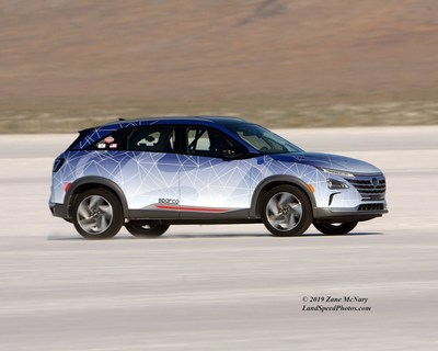 Hyundai Engineering Teams Attempt Land Speed Records with NEXO Fuel Cell SUV and Sonata Hybrid for 2019 SEMA Show