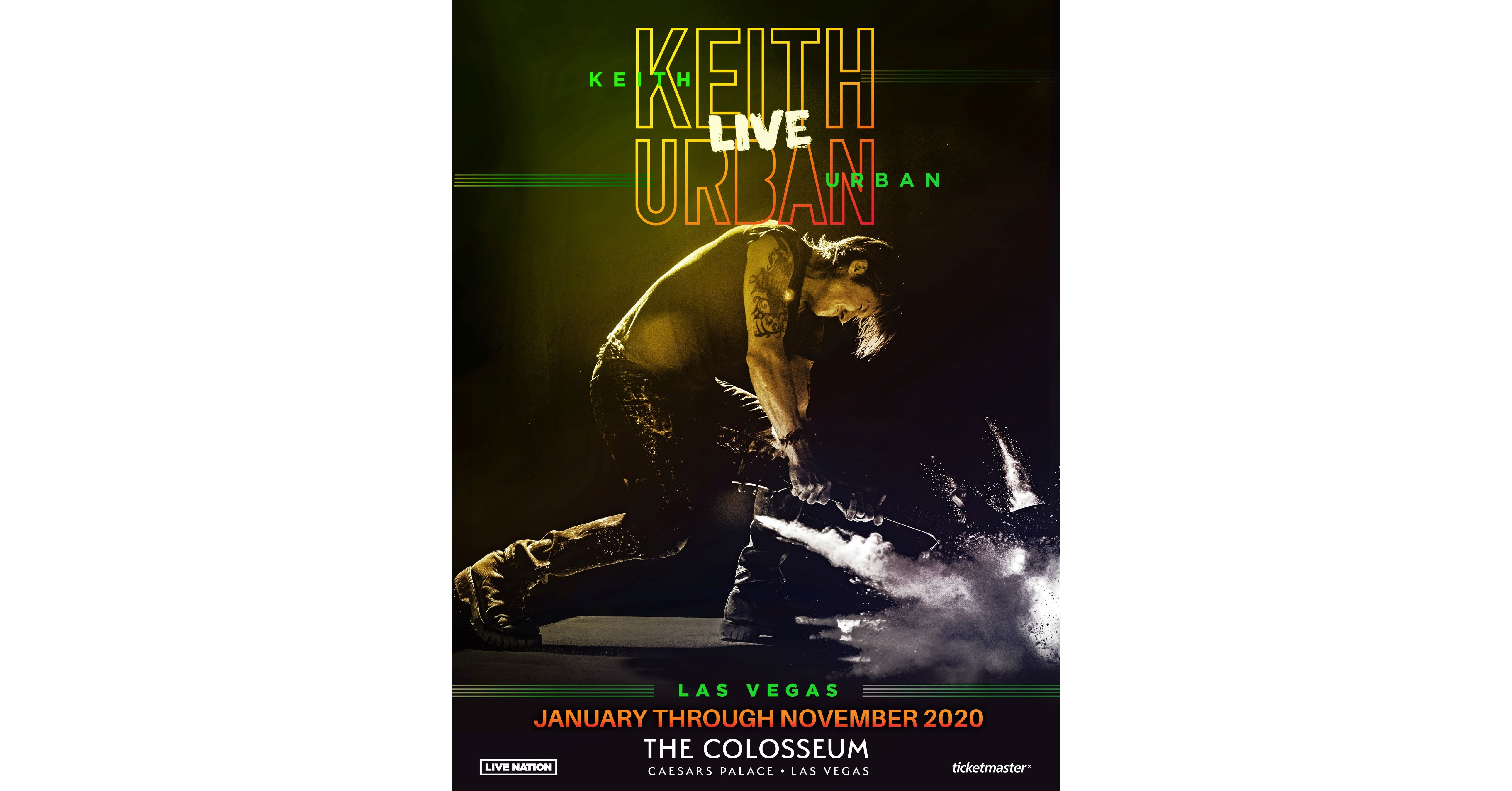 Sci Fi Las Vegas Events 2020.Keith Urban Live Las Vegas To Play 12 Concerts At The