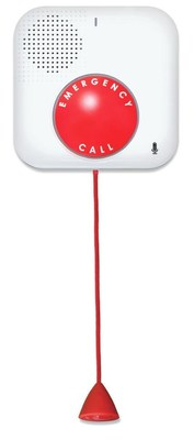 Voice-activated waterproof buttons connect the user to help through a simple vocal command -- and can be used in places with slippery surfaces, like the bathroom or pool deck areas.