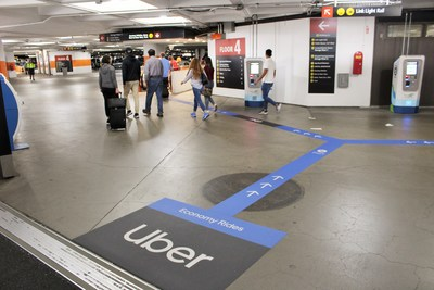 Clare Channel Airports, Uber and Sea-Tac officials worked together to seamlessly integrate the campaign's signage into the existing advertising infrastructure for passenger convenience.