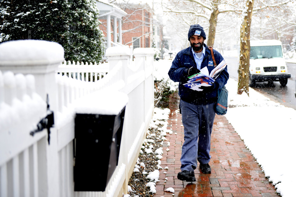 USPS Carrier, Manprit Singh, photo by USPS employee Tom Ouellette